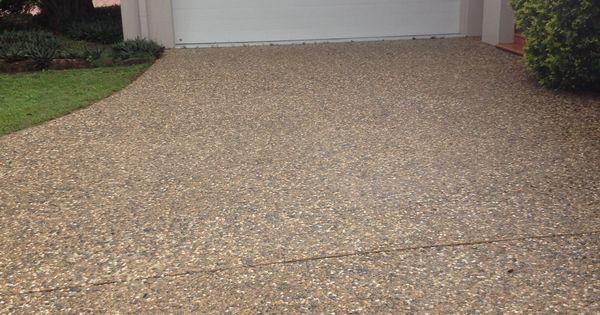 pebble crete driveway after   completeclean com au