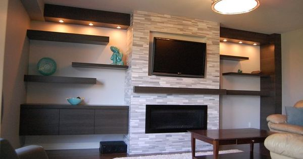 Built In Bookcase Around Fireplace Modern Google Search