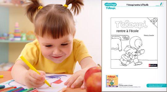 Coloriage T Choupi Rentre A L Ecole Coloriage Tchoupi