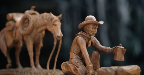 Quot drifter carved by ivan denton wood carvings