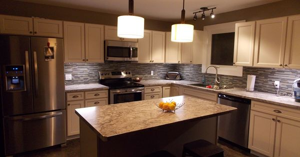 Caspian kitchen cabinet s from lowes loving my new kitchen my