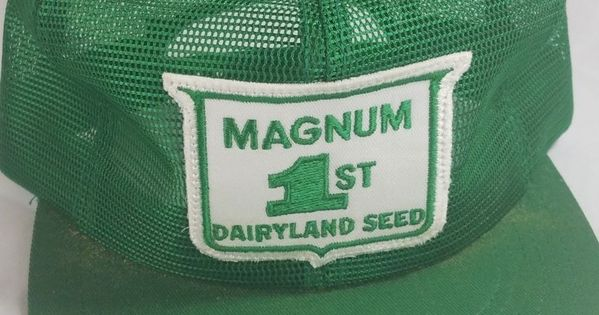 Vintage Magnum Dairyland Seed Full Mesh Snapback Trucker Hat Cap Patch K Product