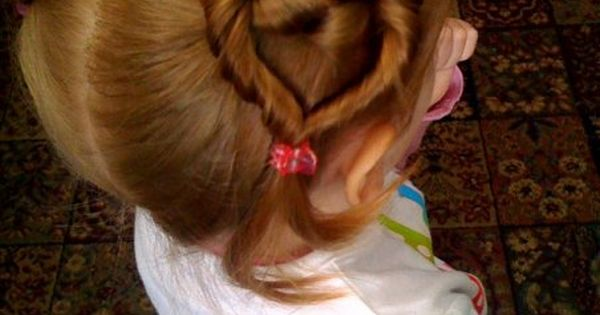 Valentines Day Little Girl hair