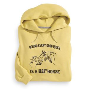 Talk to The Hoof Horse Riding Hoodie Design Girls Kids Childrens saddle helmet