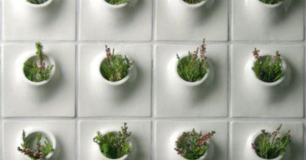 Mini Planter Tiles Gardens Landscapes Pinterest