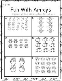 Fun With Arrays With Images Third Grade Math Second Grade