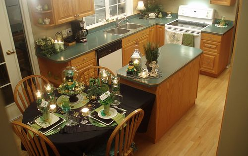 Kitchen Island With Table Attached Pictures Of Kitchen