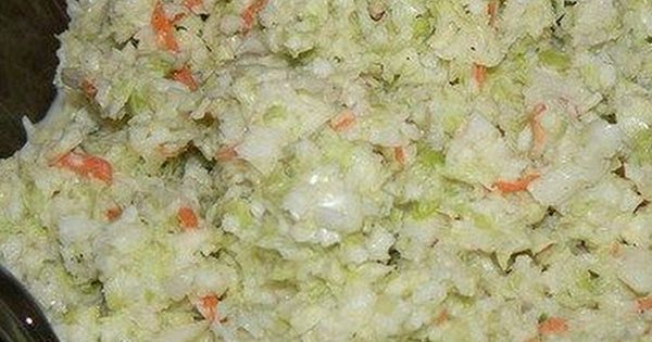KFC Coleslaw recipe: 8 cups of cabbage 1/4 cup carrot 2 Tablespoons