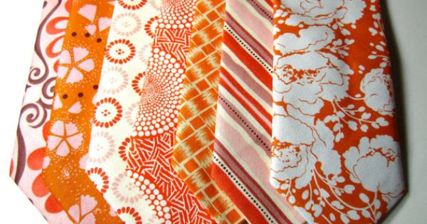 beautiful ties for an orange wedding