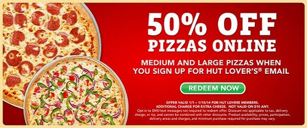 free pizza codes for pizza hut