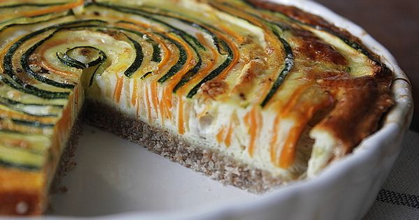 Vegetarian Quiche with Zucchini and Carrot by: Healthy veggies in a family