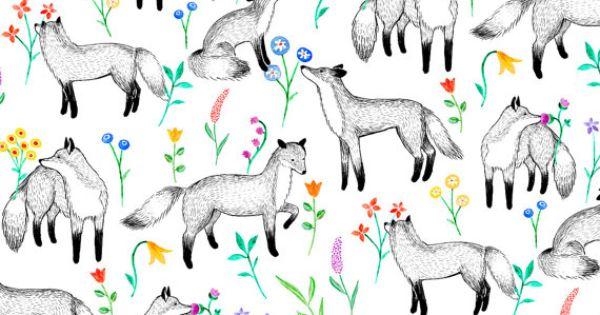Fox print fabric by Sian Keegan