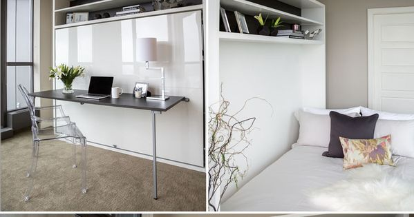 Condo bedroom office with murphy bed by calgary interior for Apartment therapy murphy bed