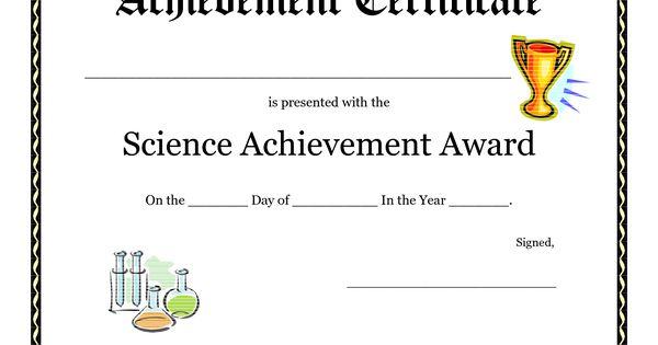 Pin free printable science fair award certificate pdf on pinterest for Science fair certificate
