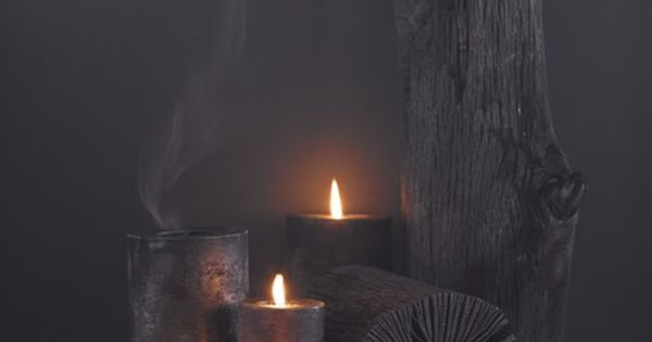rustic wooden log candle holders