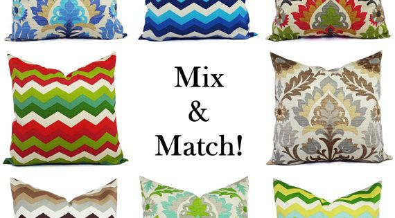 Two Outdoor Pillow Covers 16 x 16 Inch Blue by CastawayCoveDecor, $28.00 CastAwayCoveDecor ...