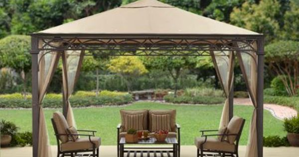 Better homes and gardens courts landing valance gazebo 12 x 10 backyard shade pinterest Better homes and gardens gazebo