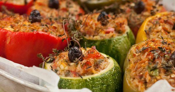 Petits farcis ni ois courgettes rondes quinoa ou riz - Cuisiner courgettes rondes ...