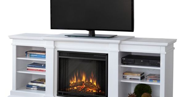 Fresno 72 TV Stand with Electric Fireplace finish