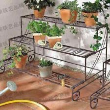Walfront Flower Display Stand Indoor Multi Layer Wrought Iron Flower Pot Rack Balcony Plant Display Stand Rack Black White 23 6 11 8 60 2in Walmart Com Flower Display Balcony Plants Wrought Iron Plant Stands
