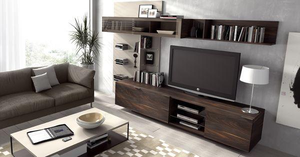 mueble tv composicion 15 linea iline de la marca piferrer