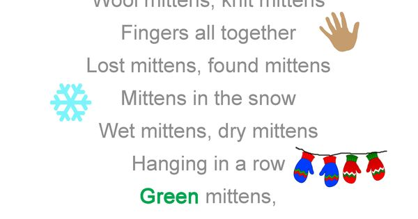 poems about mittens - Bing Images | Pre-K Songs & Poems | Pinterest ...