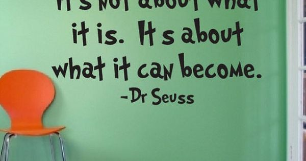 Dr Seuss Quote Sign Vinyl Decal Sticker Wall Lettering