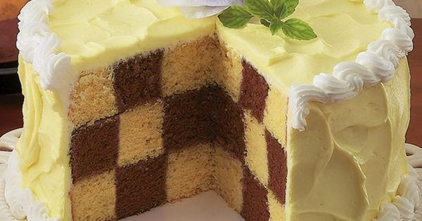 Chocolate Checkerboard Cake recipe from Betty Crocker