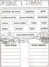 Resultado De Imagem Para Atividades Sobre Paisagem Rural E Urbana