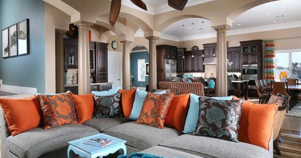 Another Example Of Orange Blue Done Correctly Living Room Blue Orange And Brown Color Scheme