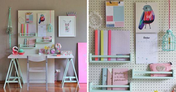10 id es pour organiser sa maison avec des panneaux perfor s meilleures id es panneau perfor. Black Bedroom Furniture Sets. Home Design Ideas