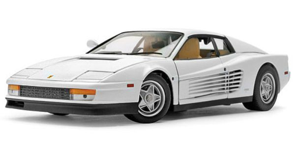 ferrari testarossa 1984 39 39 elite miami vice movie car 39 39 1 18 scale by hot wheels white. Black Bedroom Furniture Sets. Home Design Ideas