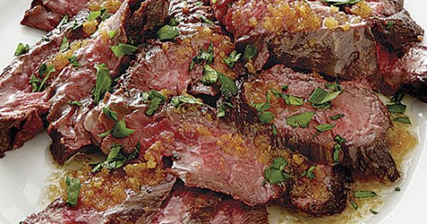 Skirt steak, Garlic butter and Steaks on Pinterest