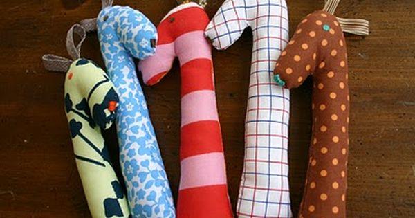 Baby toy. perfect baby gift: handmade giraffe rattles