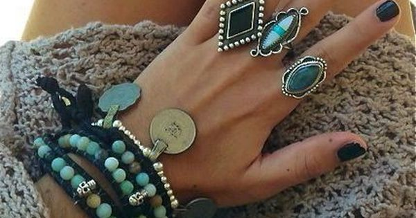 can never have enough jewels Boho Chic, Gypsy Style, Black Nails, Boho