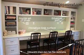 Building A Home Kid S Study Tales Of A Peanut Built In Desk Home Office Design Home