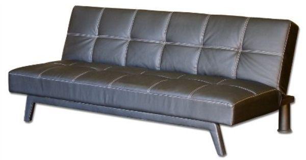 Convertible Futon Sofa With Baseball Stitching In Black Pu Leather By Big Tree Save 30 Off 373 24 Pu Fabric Zigzag Suppor Futon Futon Design Lit Japonais