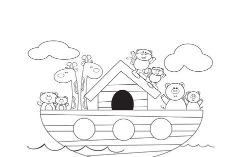story book character coloring pages   Noah's Ark Coloring Page - you can change the words ...