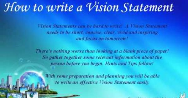 How To Write A Personal Vision Statement Example And Mission Short Statements