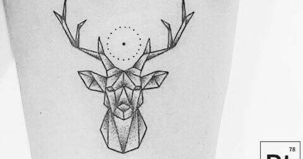 Geometric Deer Tattoo Cerf Geometrique Petit Tatouage Tatouage