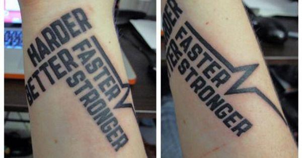 Faster Better Harder Stronger Tattoo Buscar Con Google Tatuajes Dibujos De Parejas Tatuar