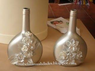 Rosabel Manualidades Botellas De Cristal Decoradas