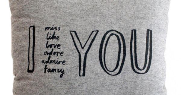 I Adore YOU Cushion Cover By Karin Akesson  Modern Design Cushion Cover, I love you ...