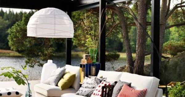 sunroom - glass room, its like you're outside!