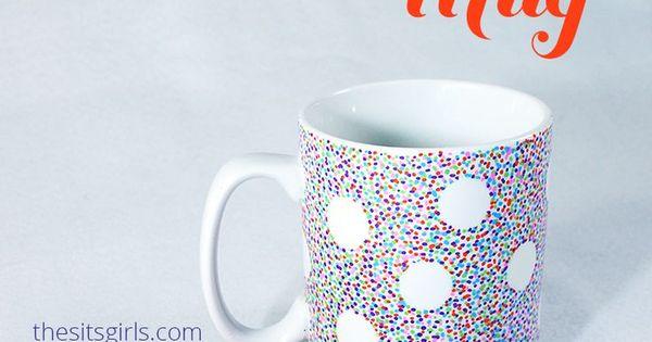 DIY Sharpie Mug | Wedding, Design and Coffee mugs