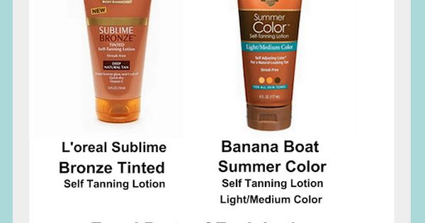 Recipe for amazing self tanner by mixing two products together.Separately these products
