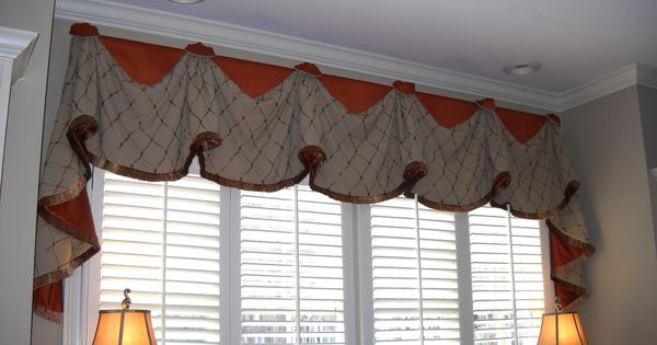 Windowtreatments Our Rio Valance With Long Jabots Over