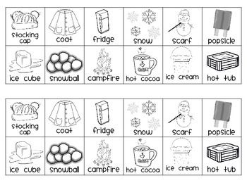 Sneezy The Snowman Hot And Cold Sort Sneezy The Snowman Snowman Writing Activities Snowmen Activities