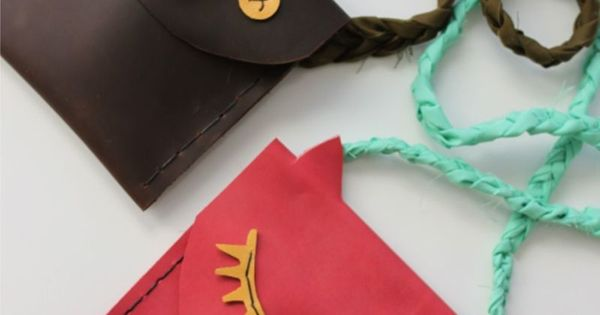 Leather Pouches for Kids DIY - A Beautiful Mess