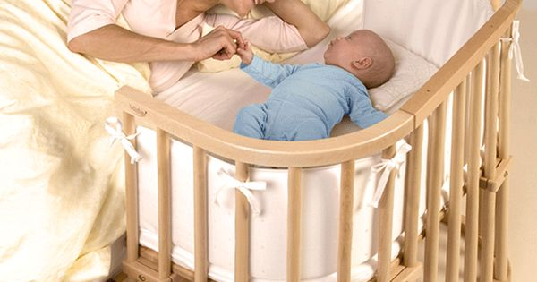 this baby bay crib attaches to the side of the parents 39 bed providing a separate space for the. Black Bedroom Furniture Sets. Home Design Ideas